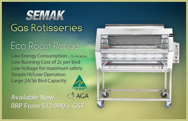 Semak Gas Fired Rotisserie